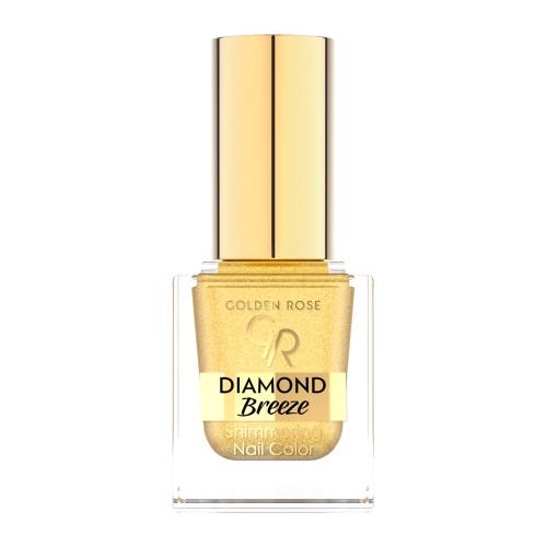 Diamond Breeze Shimmering Nail Color - 01 Brokatowy lakier do paznokci - Golden Rose