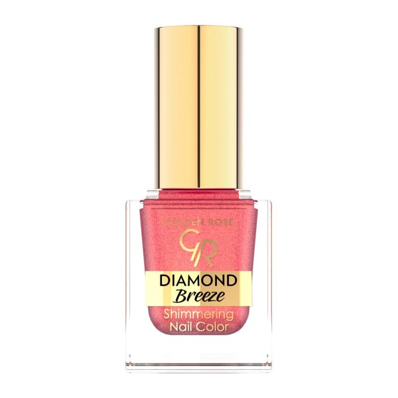 Diamond Breeze Shimmering Nail Color - Brokatowy lakier do paznokci - Golden Rose