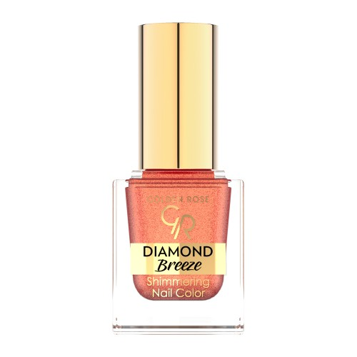 Diamond Breeze Shimmering Nail Color - 03 Brokatowy lakier do paznokci - Golden Rose