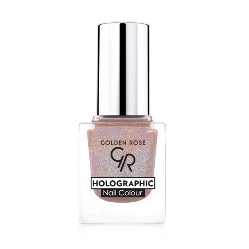 Holographic Nail Colour - Holograficzny lakier do paznokci  02- Golden Rose