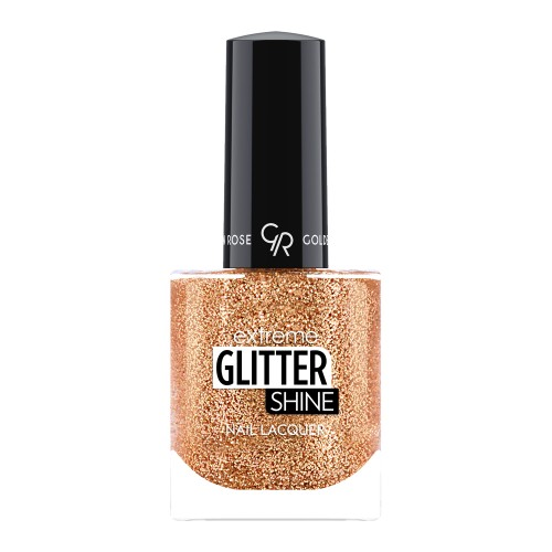 Extreme Glitter Shine Nail Lacquer - Lakier do paznokci Extreme Glitter Shine - 206 -  Golden Rose