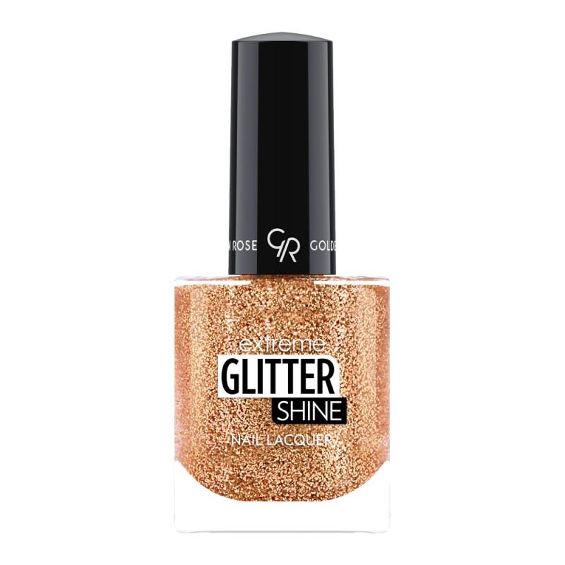 Extreme Glitter Shine Nail Lacquer - Lakier do paznokci Extreme Glitter Shine - 207 -  Golden Rose