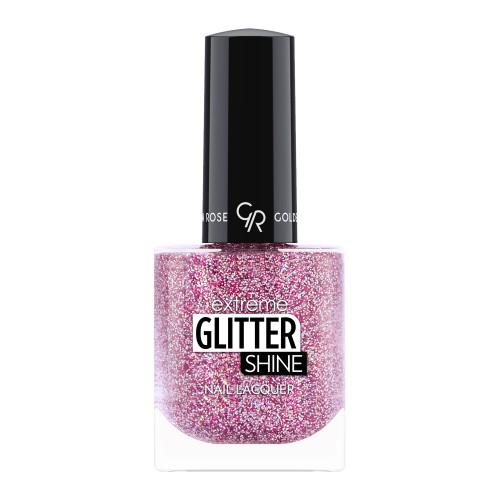 Extreme Glitter Shine Nail Lacquer - Lakier do paznokci Extreme Glitter Shine - 208 -  Golden Rose