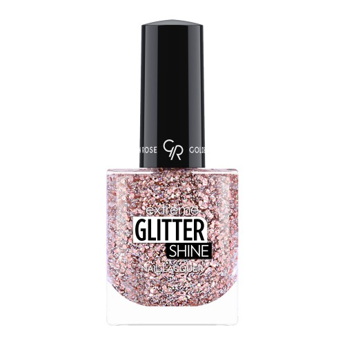 Extreme Glitter Shine Nail Lacquer - Lakier do paznokci Extreme Glitter Shine - 209-  Golden Rose