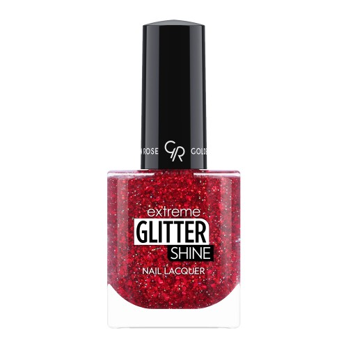 Extreme Glitter Shine Nail Lacquer - Lakier do paznokci Extreme Glitter Shine - 210 -  Golden Rose