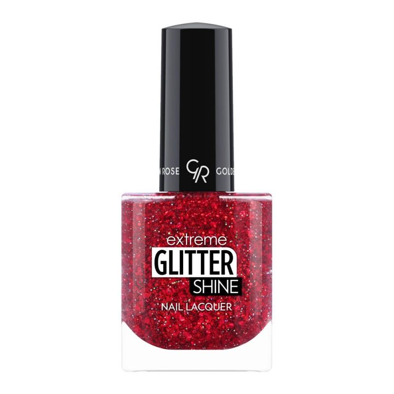 Extreme Glitter Shine Nail Lacquer - Lakier do paznokci Extreme Glitter Shine - 211 -  Golden Rose