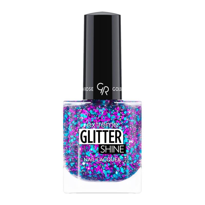 Extreme Glitter Shine Nail Lacquer - Lakier do paznokci Extreme Glitter Shine - 212 -  Golden Rose
