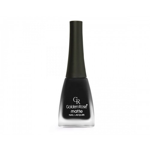 Matte Nail Lacquer - Matowy lakier do paznokci - 12 - Golden Rose