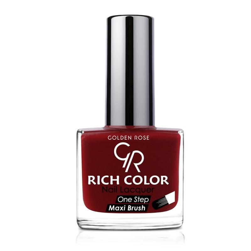 Rich Color Nail Lacquer - Trwały lakier do paznokci - 123 - Golden Rose