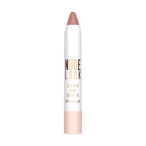Creamy Shine Lipstick - 03 - Nude Look Kremowa pomadka do ust w kredce - Golden Rose