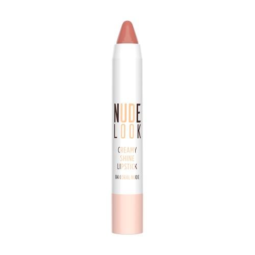 Creamy Shine Lipstick - 04 - Nude Look Kremowa pomadka do ust w kredce - Golden Rose