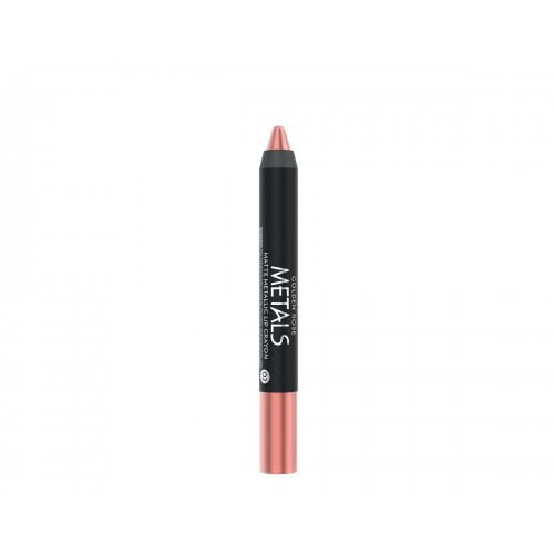 Metals Matte Metallic Lip Crayon - 02 - Metaliczna, matowa pomadka  w kredce - Golden Rose