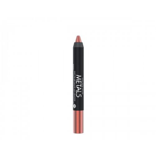 Metals Matte Metallic Lip Crayon - 04 - Metaliczna, matowa pomadka  w kredce - Golden Rose