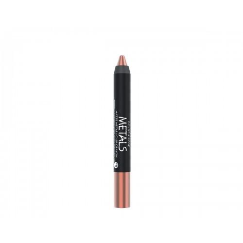 Golden Rose Metals Matte Metallic Lip Crayon 10 Metaliczna, matowa pomadka  w kredce