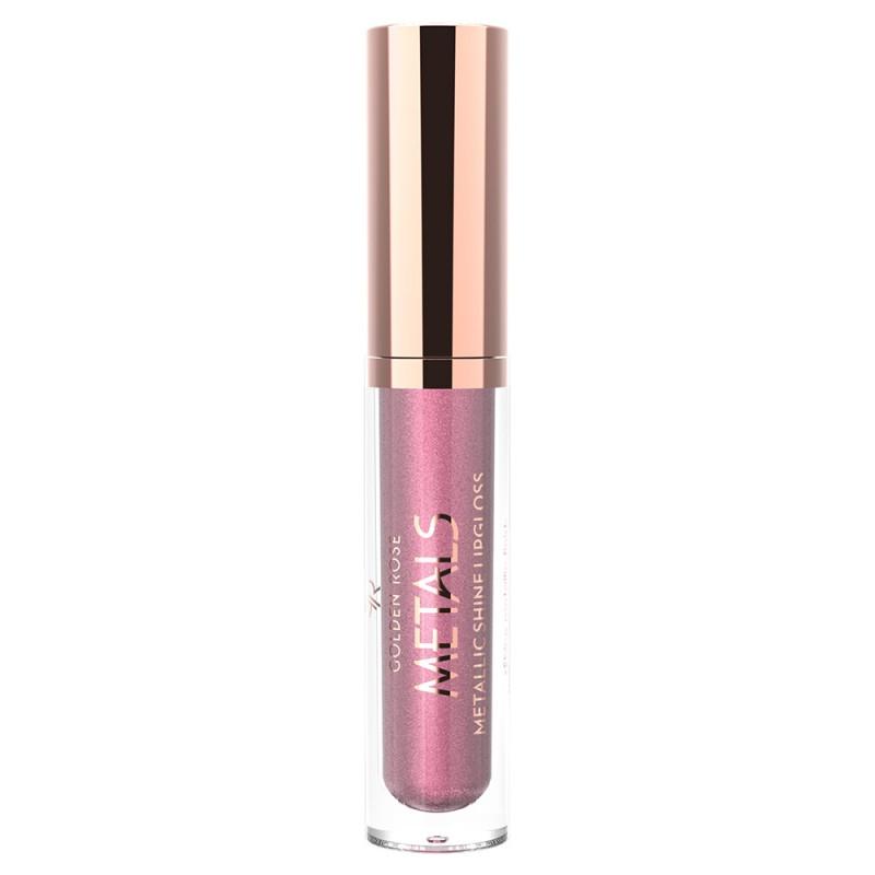 Metals Metallic Shine Lipgloss - Metaliczny błyszczyk do ust - Golden Rose