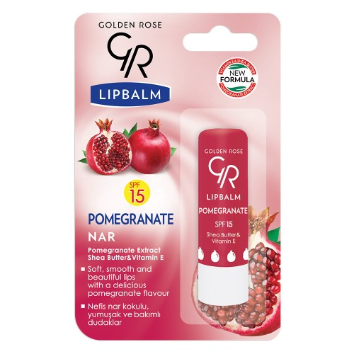 Lipbalm - Pomadka ochronna- pomegranate - Golden Rose