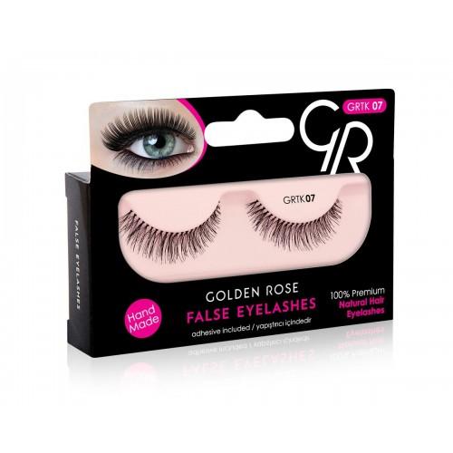 False Eyelashes - Sztuczne rzęsy z klejem -07- Golden Rose