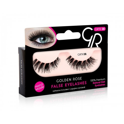 Golden Rose False Eyelashes 08 Sztuczne rzęsy BEZ kleju