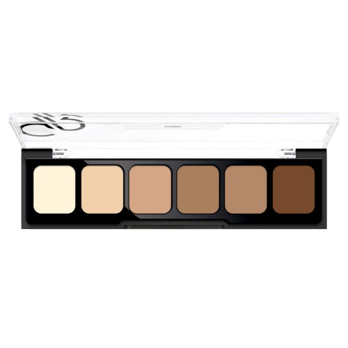 Correct&Conceal Concealer Cream Palette - 02 - Korygująca i tuszująca paleta korektorów - Golden Rose