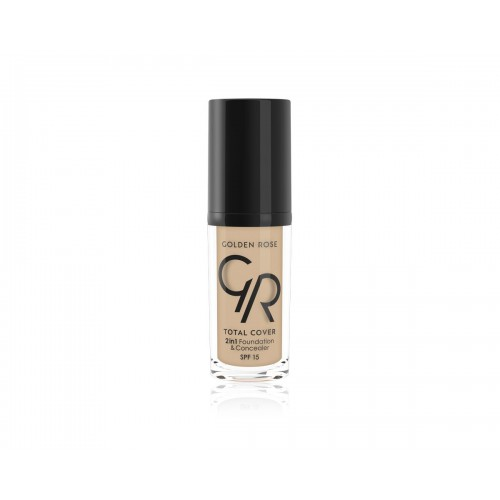 Total Cover 2 in 1 Foundation & Concealer - 05 - Kryjący podkład i korektor 2 w 1 - Golden Rose