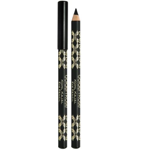Kohl Kajal Eye Pencil - BLACK - Kredka do oczu głęboka czerń - Golden Rose