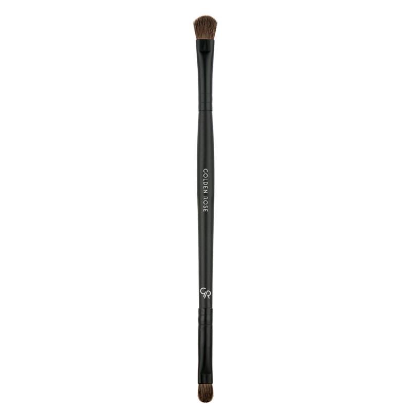 Dual - Ended Eyeshadow Brush - Dwustronny pędzel do nakładania cieni - Golden Rose