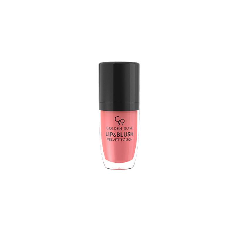 Lip &  Blush Velvet Touch -  Koloryzujący balsam do ust i policzków - Golden Rose