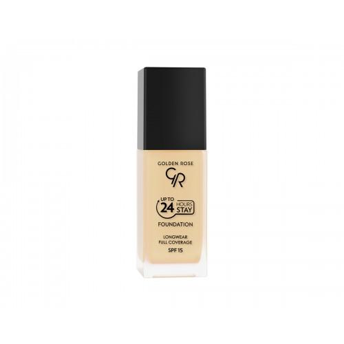 Up To 24 Hours Stay Foundation – Podkład do twarzy kryjący do 24h – 15 - Golden Rose