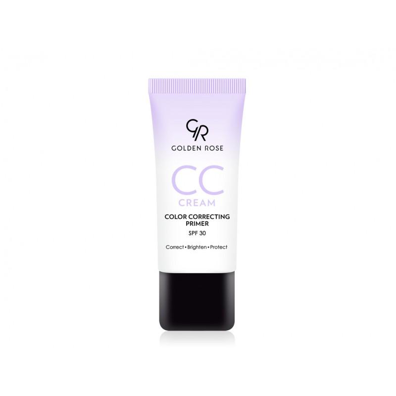 CC Cream Color Correcting Primer - Violet - Korygujący krem CC - fioletowy - Golden Rose