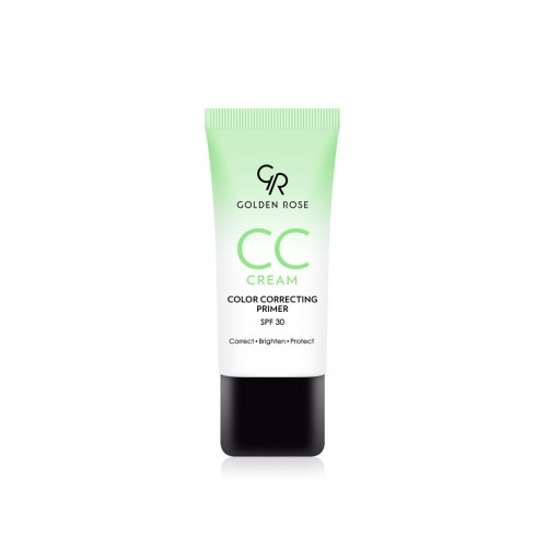 CC Cream Color Correcting Primer - Green - Korygujący krem CC – zielony - Golden Rose